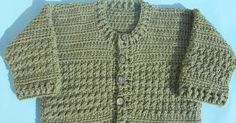 crochet baby cardigan or baby jacket free pattern with picture tut by crochetcrosiahome Baby Beanie Crochet Pattern, Crochet Baby Cardigan, Baby Knitting Patterns, Baby Patterns, Crochet Patterns, Crochet Flip Flops, Baby Boy Cardigan, Baby Coat, Crochet Designs
