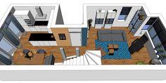 3D impressie interieurontwerp woonkamer Uitgeest by Flow Design