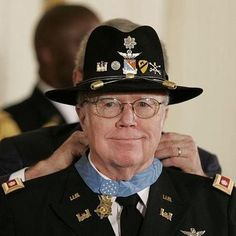 On Feb. 26, 2007, Maj. Bruce P. Crandall received the Medal of Honor for his actions at Landing Zone X-Ray during the Battle of Ia Drang, Vietnam, in November 1965. Crandall repeatedly flew into a landing zone under intense enemy fire to rescue and resupply 1st Cavalry Division ground troops--even after the LZ had been closed. http://www.army.mil/medalofhonor/crandall/index.html