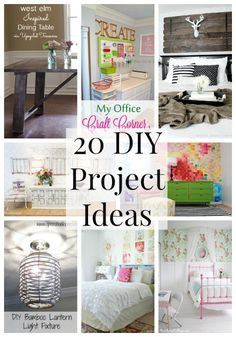 20 DIY Project Ideas {Link Party Features} I Heart Nap Time | I Heart Nap Time - Easy recipes, DIY crafts, Homemaking