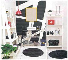 A estante Terre Demotion, da MMM, fez o maior sucesso na decoração deste banheiro, que a Decorar Mais Por Menos publicou. http://www.meumoveldemadeira.com.br/produto/estante-terre-demotion-branco-laqueado