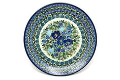 Polish Pottery Plate  10 Dinner  Unikat Signature  U4520 -- View the beautiful pottery in details by clicking the image