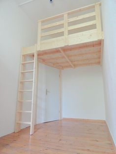 minimal space,space saving storage ideas,dyi loft bed,personal space funny,small space - Home Decor Loft Beds For Small Rooms, Small Loft, Bedroom Small, Cool Loft Beds, Loft Room, Bedroom Loft, Solid Wood Bunk Beds, Small Space Nursery, Loft Bed Plans
