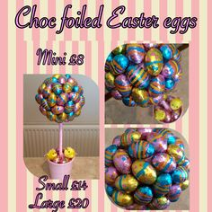 Choc foiled easter eggs