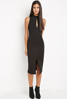 Contemporary High-Neck Bodycon Dress | Forever 21 - 2000157201