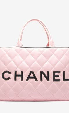 »✿❤Pink❤✿« Chanel Pink Quilted Lambskin XL Bowler Bag
