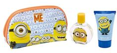 Minions for Kids 3 Piece Gift Set with Edt Spray, Shower Gel and Toiletry Bag >>> More info @
