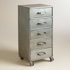 Metal 5 Drawer Jase Rolling File Cabinet | World Market
