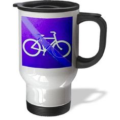 tm_98257_1 Jos Fauxtographee Signs - A no bike riding sign in purple - Travel Mug - 14oz Stainless Steel Travel Mug