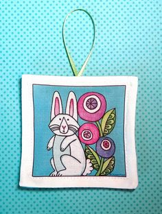 White Rabbit Lavender Sachet  Easter Ornament by SusanFayePetProjects, $7.00