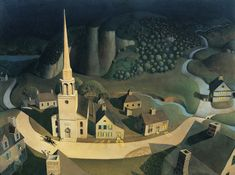 Grant Wood: The midnight ride of Paul Revere