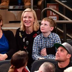 Cate Blanchett and her son Ignatius enjoyed the Orlando Magic vs. New York Knicks game at Madison Square Garden in NYC.