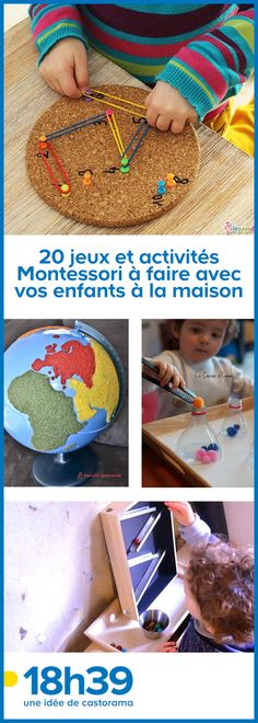 Montessori pedagogy is not reserved for schools! Here is a small selection of DIY activities to do with your kids at home. Preschool Activities At Home, Educational Activities For Preschoolers, Montessori Activities, Creative Activities, Toddler Preschool, Educational Toys, Toddler Activities, Kids Learning, Indoor Activities