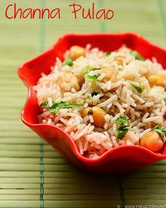 An easy to make channa pulao recipe, perfect to pack for your lunch box and for a quick fix.