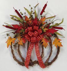 Burgundy Pumpkin Wreath