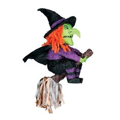 This witch piñata serves as a decoration and a game at the same time! At www.fiestafacil.com