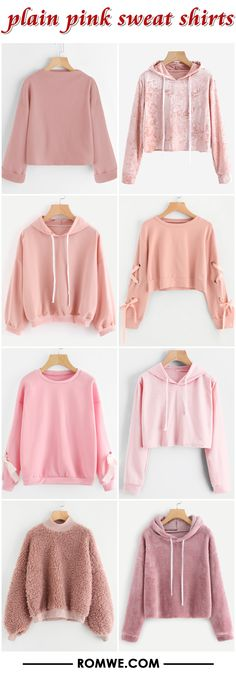plain pink sweatshirts from romwe.com