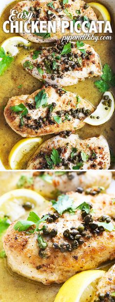 This is the tastiest Chicken Piccata I have ever eaten. Not only is it DELICIOUS, it is also easy and complies with the Whole30 food program. Add this to your dinner rotation pronto! #chickenpiccata #easydinner #whole30meal