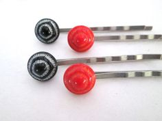 #Black #Red #Hair #Accessories Bobby Pin Clip by PlumePretty on Etsy, $26.00