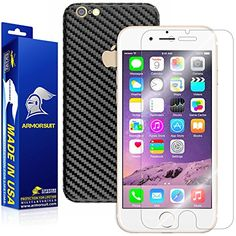 ArmorSuit MilitaryShield  Apple iPhone 6 Screen Protector 47  Black Carbon Fiber Full Body Skin Protector  Front AntiBubble Ultra HD  Extreme Clarity  Touch Responsive Shield with Lifetime Free Replacements >>> Check out the image by visiting the link.