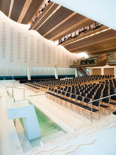 Image 11 of 11 from gallery of Froeyland Orstad Church / LINK Arkitektur AS. Photograph by Link Arkitektur as Church Interior Design, Church Design, Church Architecture, Modern Architecture, Religious Architecture, French Cathedrals, Norway Design, Auditorium Design, Modern Church