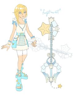 """""""Me an'  and  have been talking this week about how fun it would be to play as Naminé in a game where you're diving through memories, so I HAD to design a keyblade and adventuring outfit for her! Character Design, Drawings, Kingdom Hearts Crossover, Art, Anime, Kingdom Hearts Games, Fan Art, Drawing Inspiration, Magical Girl"""