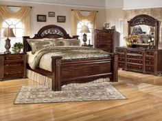 big post bed king size North Shore California King Canopy Bed in