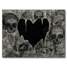 gothic valentine's | ... collage of skulls and a depressing black heart happy valentine s day