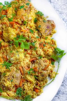Here's a recipe for Uzbekistan's delicious Chicken Plov, a scrumptious chicken and rice casserole with carrots, onions, garlic, herbs and spices. #ChickenAndRice #ChickenCasserole #PlovRecipe Rice Casserole, Chicken Casserole, Best Chicken Recipes, Chicken Seasoning, Yum Yum Chicken, Chicken And Vegetables, Cooking Light, Dairy Free Recipes, Main Meals