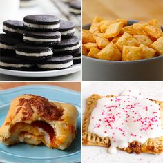 Store-Bought Snacks You Can Make At Home by Tasty Snack Recipes, Cooking Recipes, Cupcake Recipes, Tasty Videos, Food Videos, Homemade Cheese, Homemade Oreos, Buzzfeed Food, Lunch Snacks