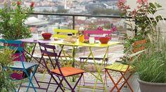 Une terrasse colorée