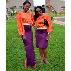 Dresses designed by Kiki Zimba