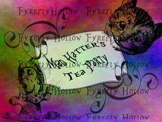 Alice in Wonderland Download / Printable Mad Hatter Tea Party Digital Download / Alice In Wonderland Party Download  Party Supplies Download