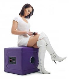 MusicRocker Cube Mini Gaming Chair & Stereo 2.1 System