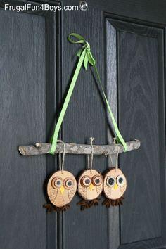 Wood Slice Owl Craft - Fall Decor