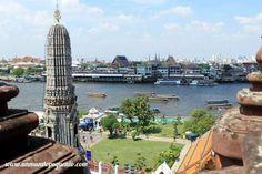 River view at Wat Arun / Vista del río en Wat Arun #Bangkok #Asia #Thailand #Tailandia