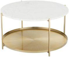 Table basse ronde en marbre Victoria   WestwingNow