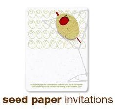 Seed Paper invitations