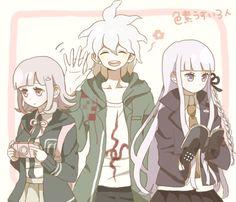 Chiaki, Nagito and Kyoko