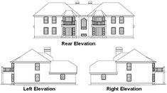 Planes casa de estilo tradicional - 4240 pies cuadrados de construcción Home, de 2 pisos, 12 Dormitorio y 8 3 Baño, 4 Garaje puestos por planes de vivienda del monstruo - Plan de 77-147