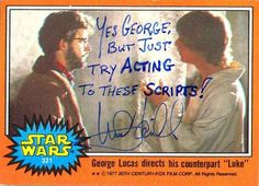 When he lightly shaded George Lucas in an autograph.
