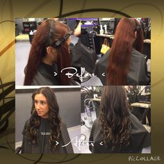 Transformation. Hair transformation. Professional ombre