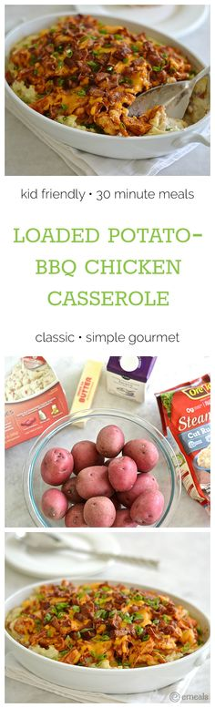 On eMeals Menus This Week: Loaded Potato-Barbecue Chicken Casserole