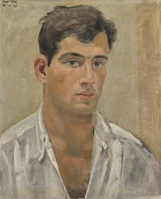 Yiannis Tsarouchis (Greek, 1910-1989), Portrait of a Young Man, 1966. Oil on canvas, 47 x 38 cm