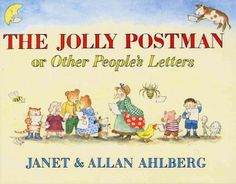 A collection of letters from famous fairy-tale characters features an apology from Goldilocks to the Three Bears, an advertisement for the Wicked Witch from Hobgoblin Supplies Ltd., and other correspondence delivered by the Jolly Postman.