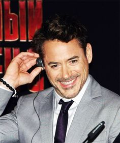 """Robert Downey Jr. - press conference during the """"Iron Man 3"""" media tour in Moscow, Russia."""