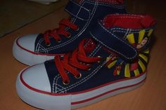 Infant Boy Velcro Superman Skateboard Hightop Canvas Trainers UK 7.5 EUR 25 US 8