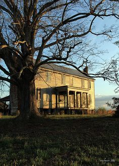 another stop sunset beautiful old abandoned home in North Carolina