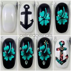 Beautiful manicure for a steady hand... Hawaiian tropical