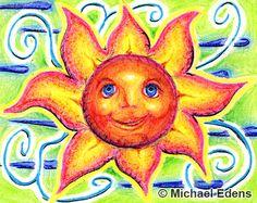 sunflower folkart